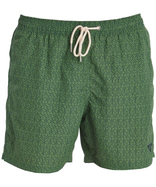 Men's Barbour Geo Print Swim Shorts - Green