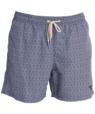 Men's Barbour Geo Print Swim Shorts - Navy
