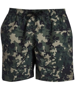 Men's Barbour International Hex Camo Swim Shorts