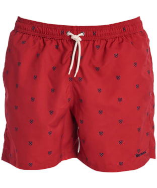 Men's Barbour Saltire Swim Shorts - Rich Red