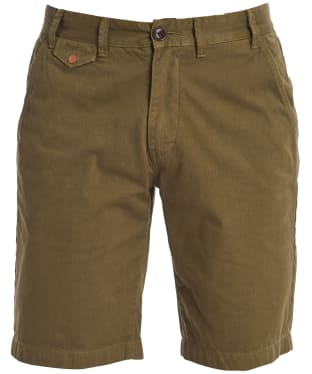Men's Barbour Neuston Twill Shorts - Military Green