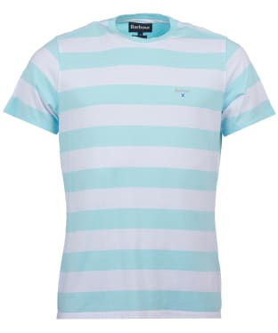 Men's Barbour Beach Stripe Tee - Aquamarine