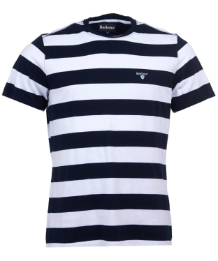 Men's Barbour Beach Stripe Tee - Navy