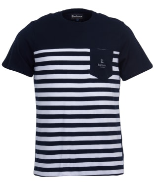 Men's Barbour Ammon Stripe Tee - Navy