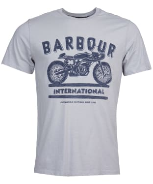 Men's Barbour International Device Tee - Light Grey
