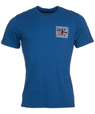 Men's Barbour International Steve McQueen Team Flags Tee - Washed Ink