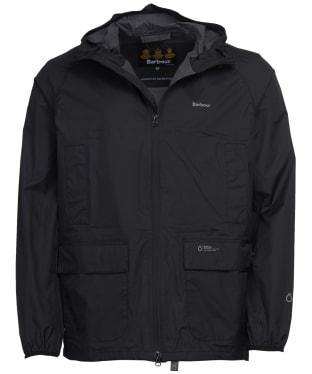 Men's Barbour Ashdown Waterproof Packaway Jacket - Black