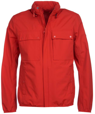 Men's Barbour International Mile Waterproof Jacket - Lava Red