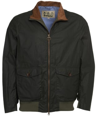 Men's Barbour Clapton Lightweight Waxed Jacket - Forest