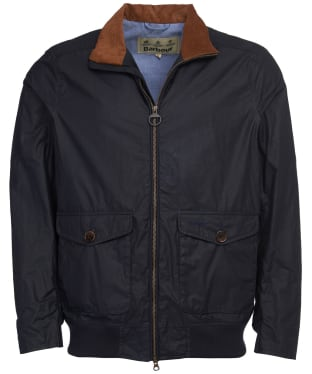 Men's Barbour Clapton Lightweight Waxed Jacket - Royal Navy