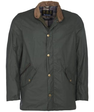 Men's Barbour Lightweight Prestbury Waxed Jacket - Light Forest