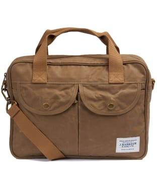 Barbour Longthorpe Wax Laptop Bag - Sandstone