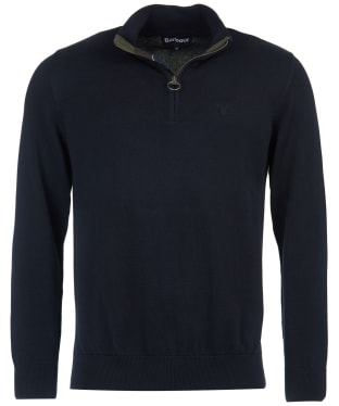 Men's Barbour Cotton Half Zip Sweater - Navy