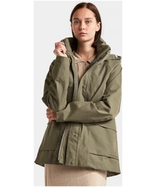 Women's Didriksons Unn Waterproof Jacket - Dusty Olive