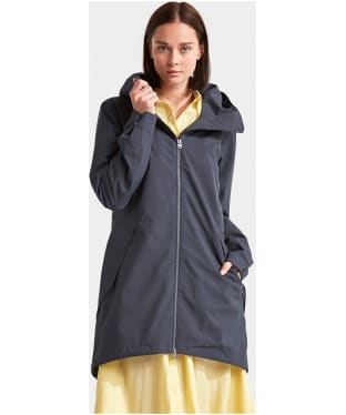 Women's Didriksons Folka Waterproof Parka Jacket - Navy Dust