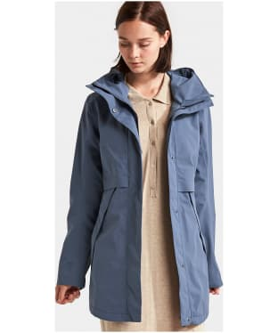 Women's Didriksons Edith Waterproof Parka Jacket - Fjord Blue