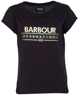 Women's Barbour International Apex Tee - Black