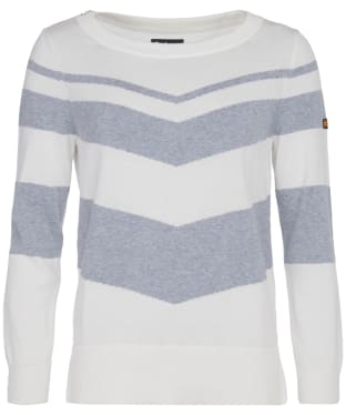 Women's Barbour International Rally Knit - Off White / Grey