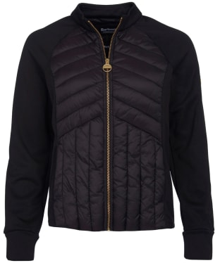 Women's Barbour International Drive Sweater Jacket - Black