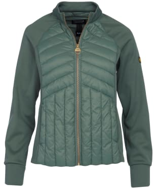 Women's Barbour International Drive Sweater Jacket - Tussock