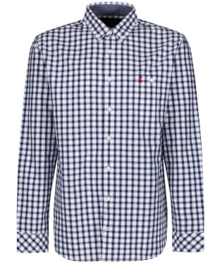 Men's Joules Hewney Classic Shirt - Blue Herringbone Check