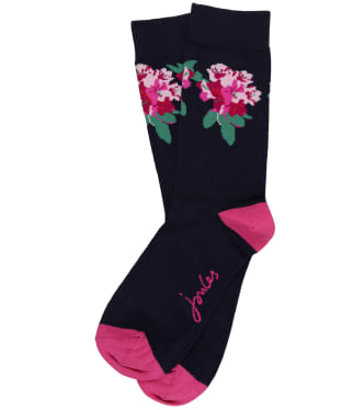Women's Joules Brilliant Bamboo Socks - Navy Floral