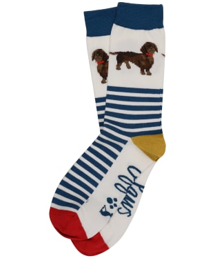 Women's Joules Brilliant Bamboo Socks - Navy Dachshund