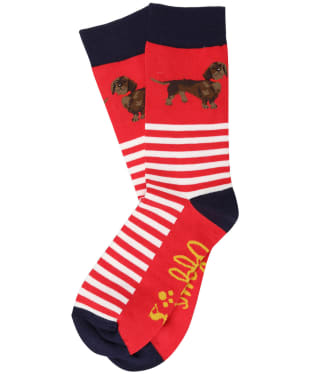 Women's Joules Brilliant Bamboo Socks - Red Dachshund