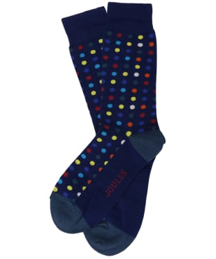 Men's Joules Striking Socks - Blue Multi Spot