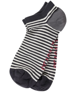 Women's Seasalt Everyday Trainer Socks - Mini Stripe Peat