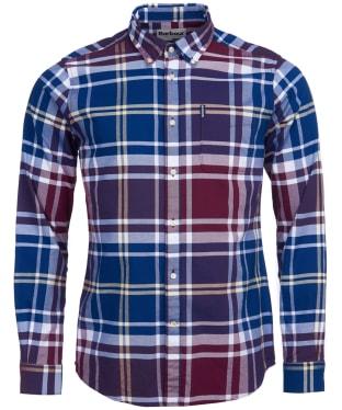 Men's Barbour Highland Check 23 Tailored Shirt - Merlot Check