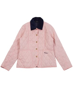 Girl's Barbour Summer Liddesdale Quilted Jacket, 2-9yrs - Pale Coral