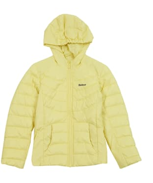 Girls Barbour Shoreward Quilted Jacket, 10-15yrs - Sunshine