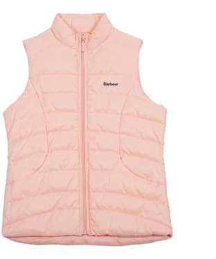 Girl's Barbour Shoreward Gilet, 6-9yrs - Pale Coral