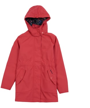 Girl's Barbour Promenade Waterproof Jacket, 10-15yrs - Coral