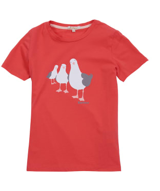 Girl's Barbour Seagull Tee, 6-9yrs - Coral