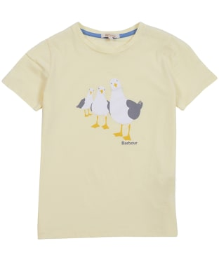 Girl's Barbour Seagull Tee, 6-9yrs - Sunshine