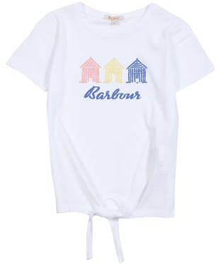 Girls Barbour Harbour Tee, 10-15yrs - White