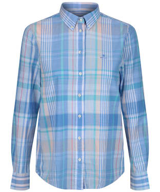 Women's GANT Madras Shirt - Pacific Blue