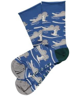 Women's Seasalt Bamboo Arty Socks - Distant Gulls Waterfront