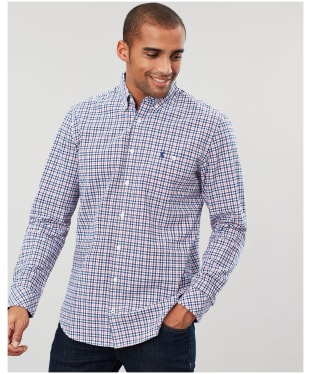 Men's Joules Hewney Classic Shirt - Blue / Red Check