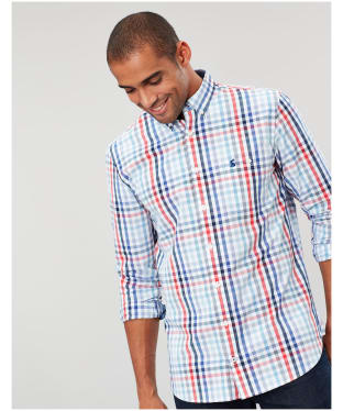 Men's Joules Hewney Classic Shirt - Red / Blue Check