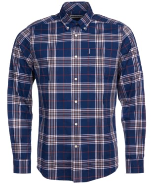 Men's Barbour Highland Check 27 Tailored Shirt - Brown Check