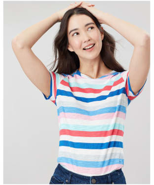 Women's Joules Carley T-shirt - Blue Stripe