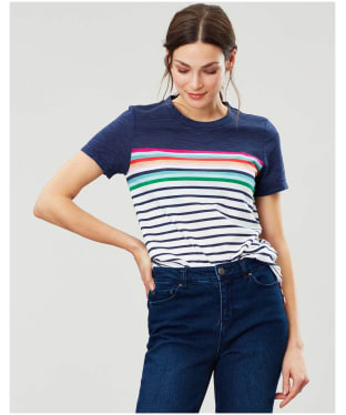 Women's Joules Carley T-shirt - Blue Border Stripe
