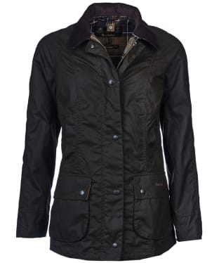 Women's Barbour Classic Beadnell Wax Jacket - Olive