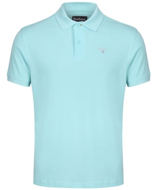 Men's Barbour Sports Polo 215G - Aquamarine