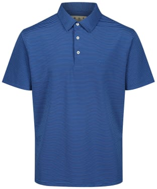 Men's Barbour Performance Stripe 1 Polo Shirt - Cobalt Blue