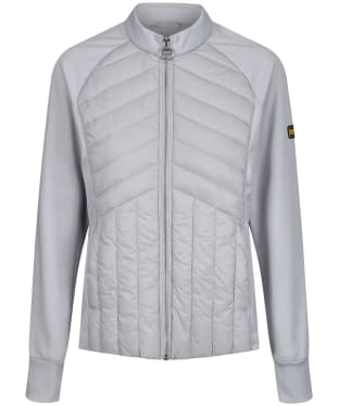 Women's Barbour International Drive Sweater Jacket - Ice White