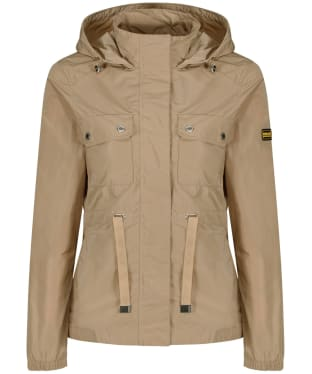 Women's Barbour International Curveball Showerproof Jacket - Sahara